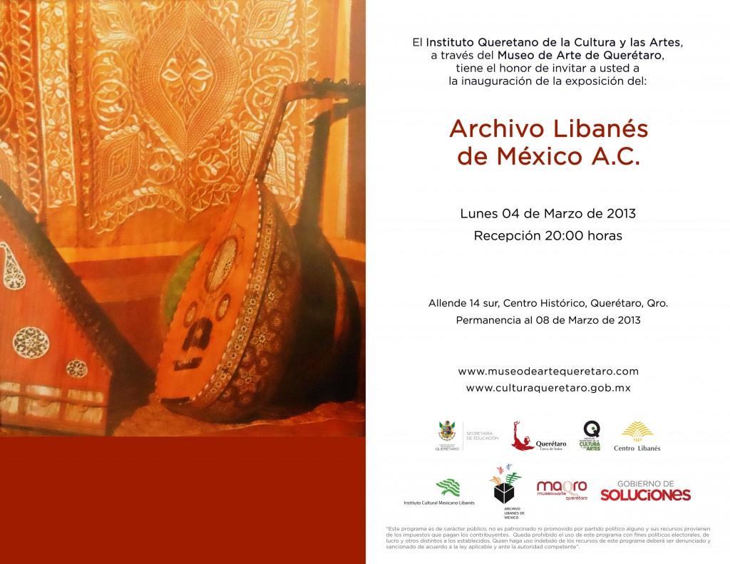 Invitación Archivo Libanés