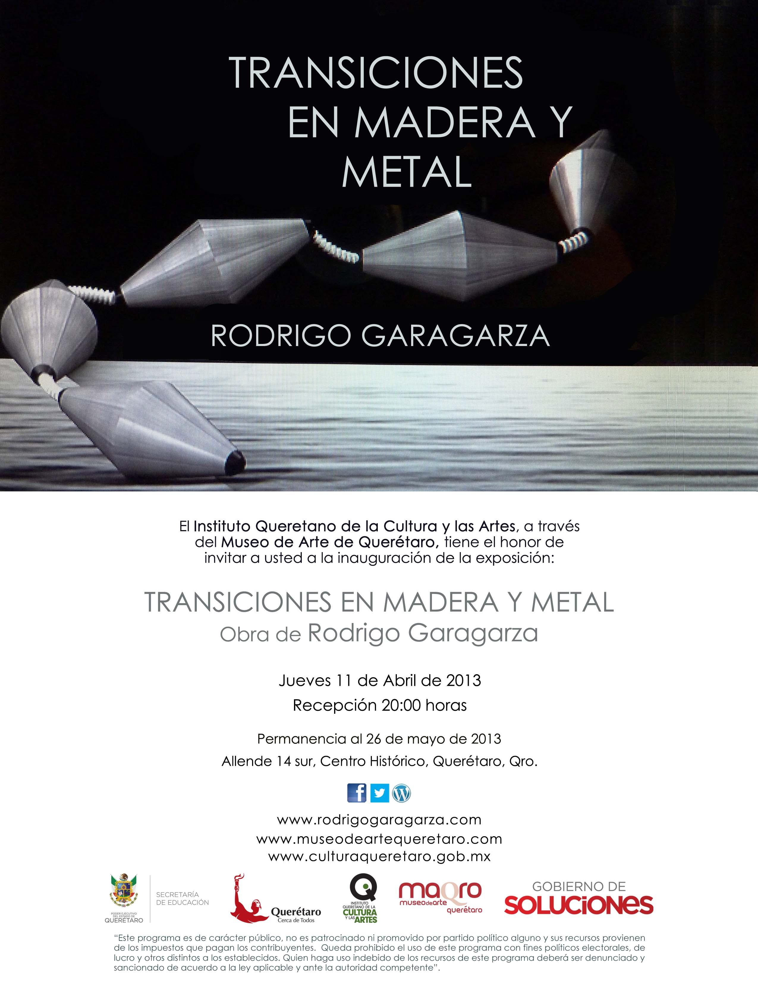 Transiciones en Madera y Metal – Rodrigo Garagarza