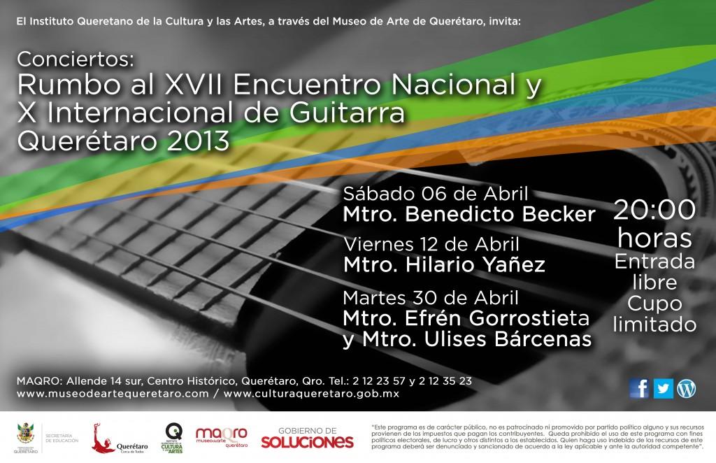 Rumbo al XVII Encuentro Nacional y X Internacional de Guitarra Querétaro 2013