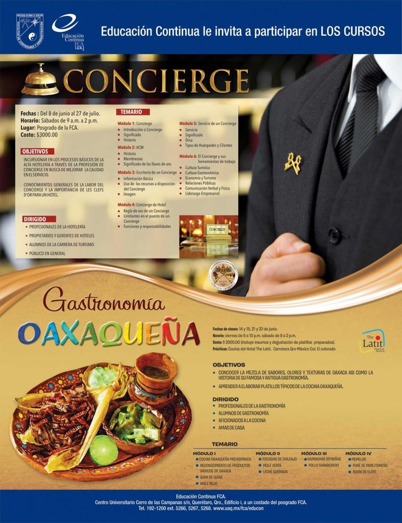 Curso Concierge y Gastronomía Oaxaqueña