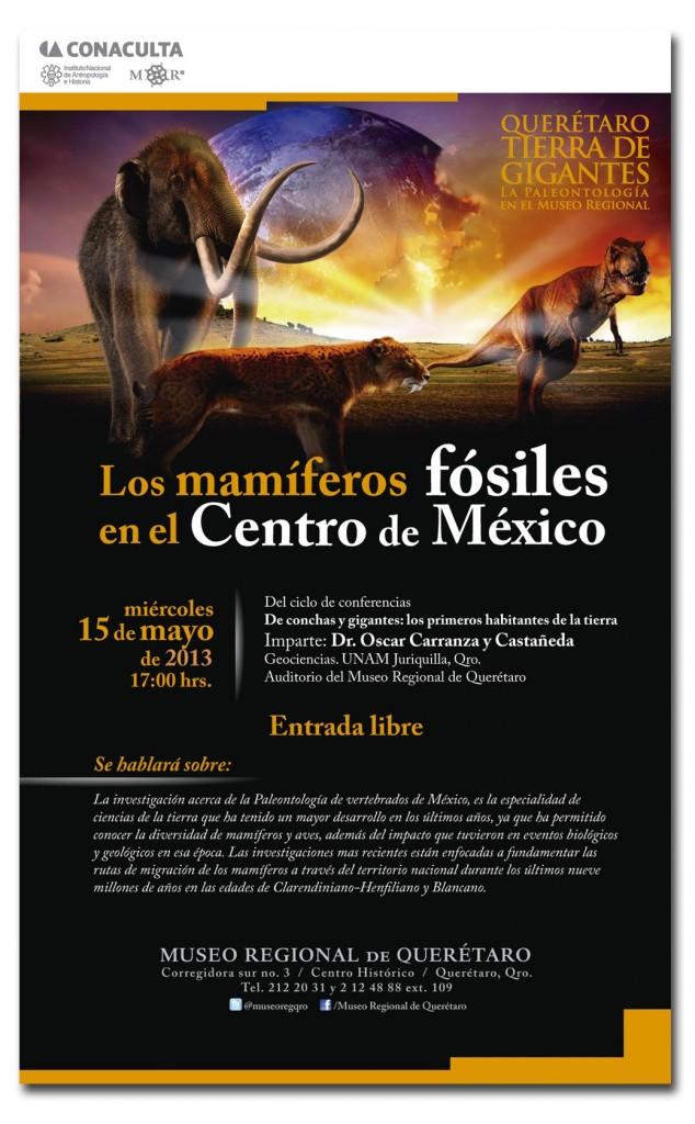 Los mamíferos fósiles en el Centro de México