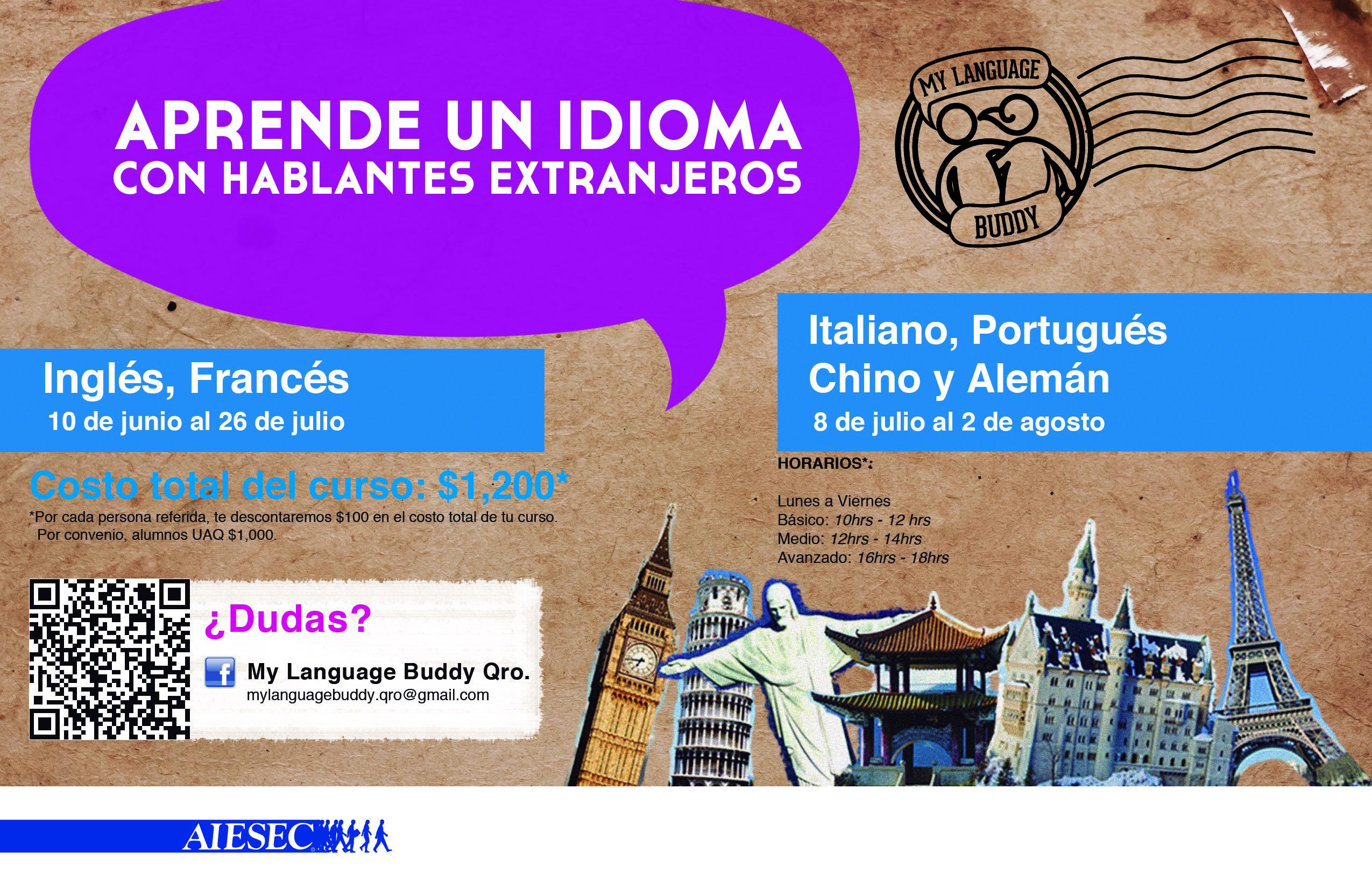 Aprende un idioma en My Language Buddy Querétaro!
