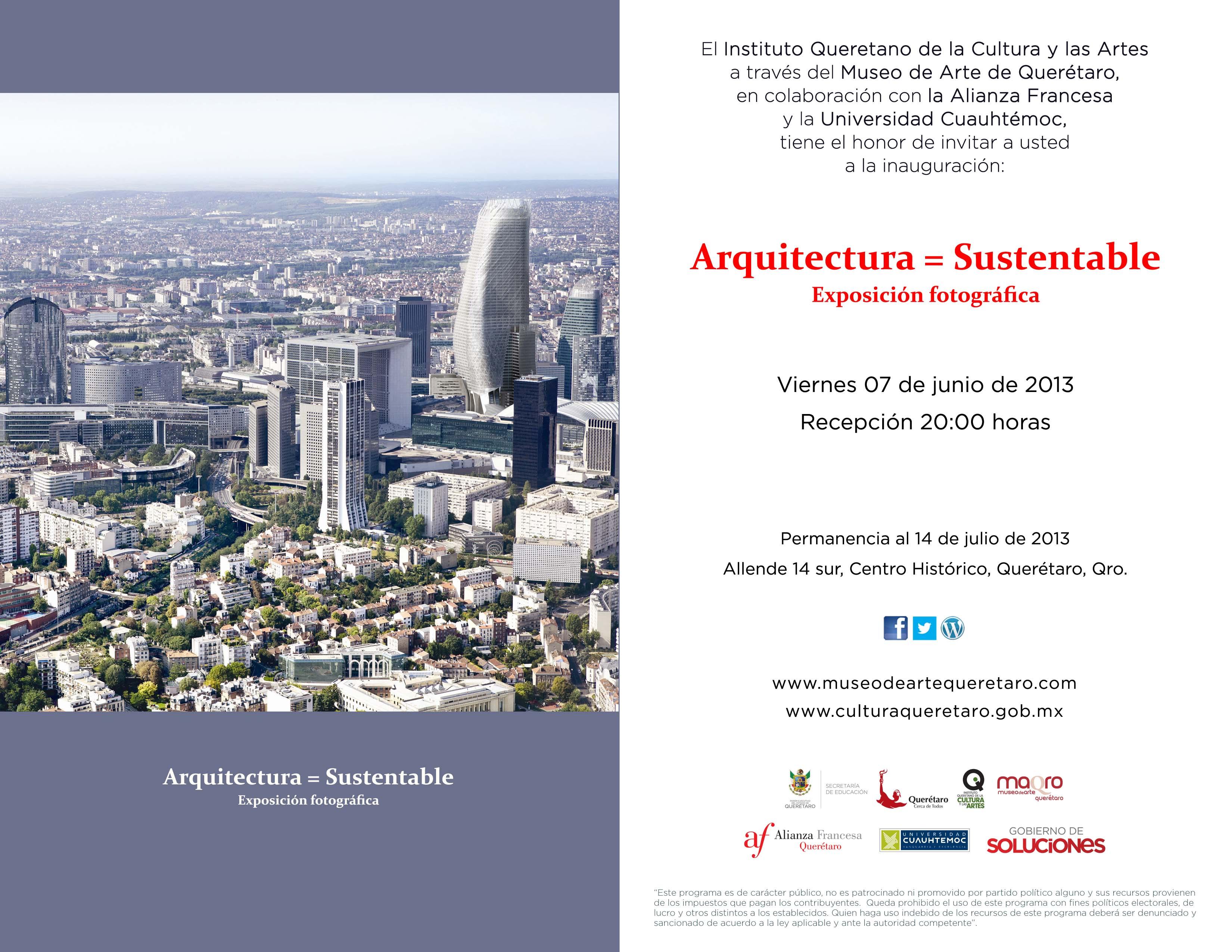 Arquitectura Sustentable – Exposición Fotográfica