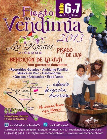 Fiesta de la Vendimia 2013 en Viñedos Los Rosales