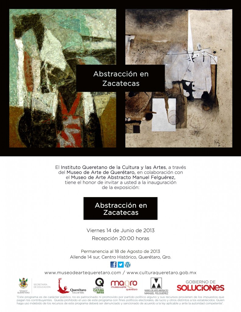 Invitacion Abstraccion en Zacatecas
