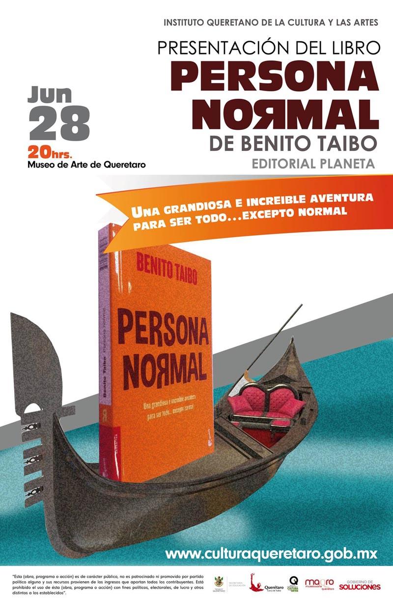 """Presentación del Libro """"Persona Normal"""" de Benito Taibo"""