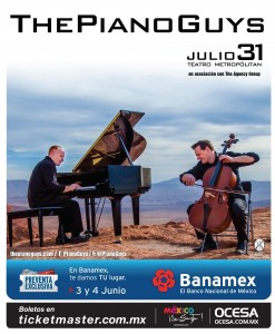 ThePianoGuys confirman Concierto en México