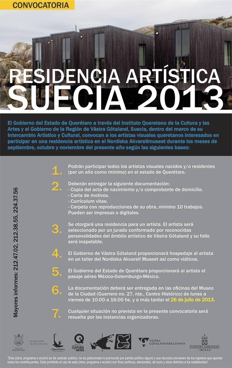 Convocatoria: Residencia Artística Suecia 2013