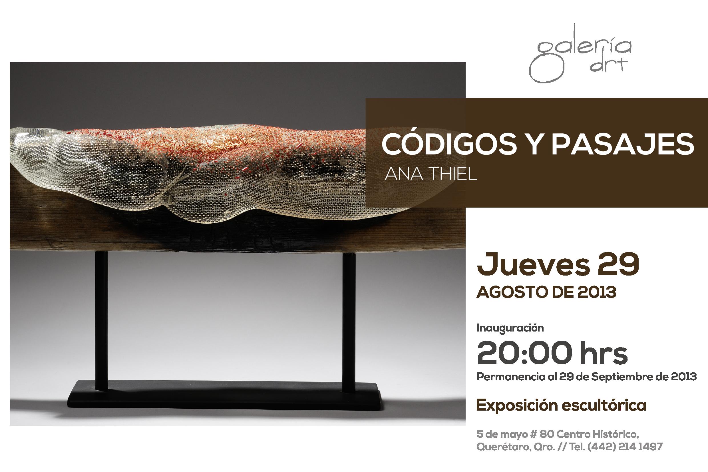 """Exposición """"Códigos y Pasajes"""" de Ana Thiel"""
