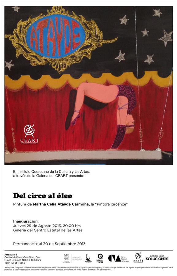 Del circo al óleo, pintura de Martha Celia Atayde en el CEART