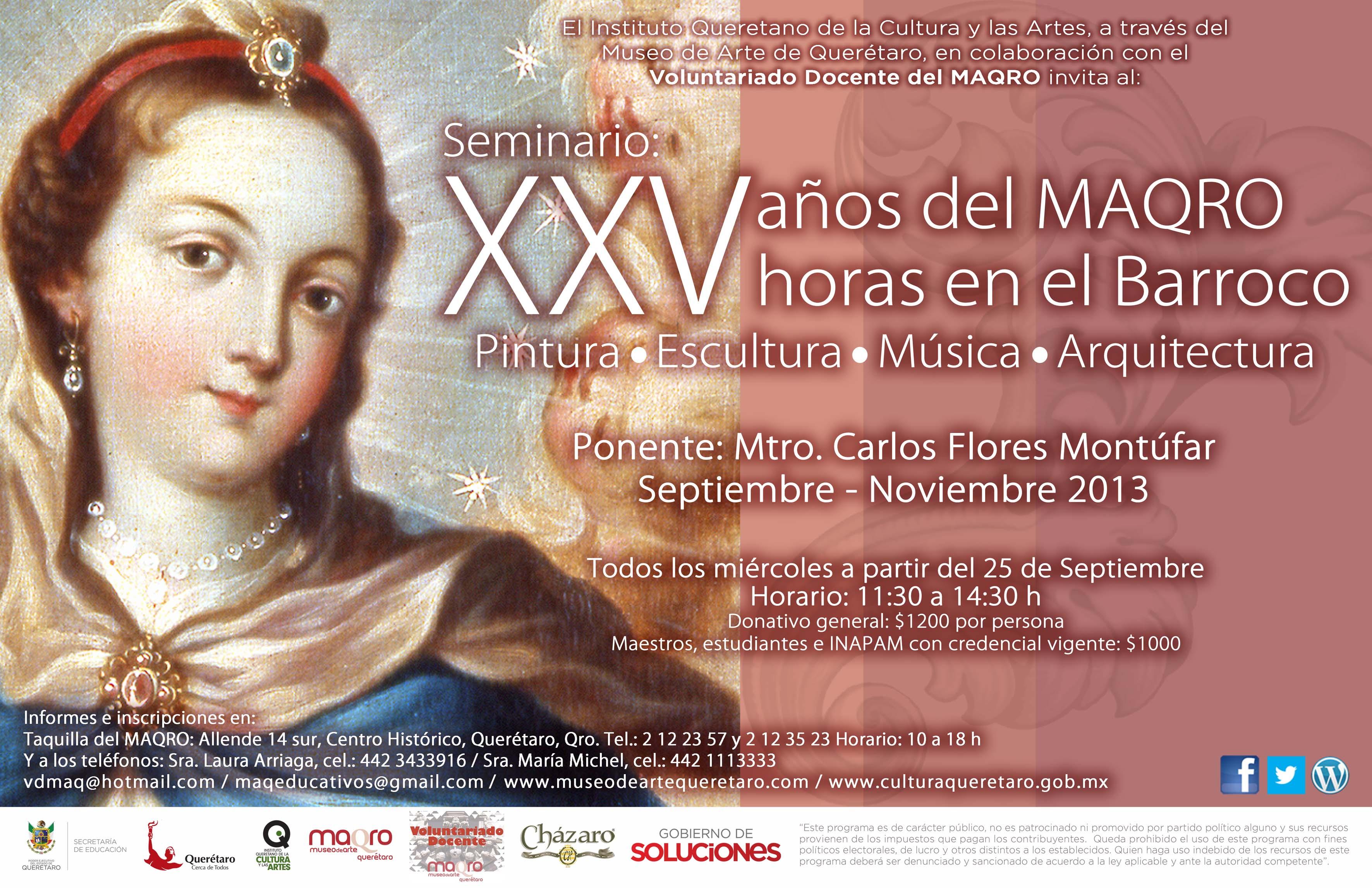 """Seminario en el MAQRO """"XXV Horas en el Barroco"""""""