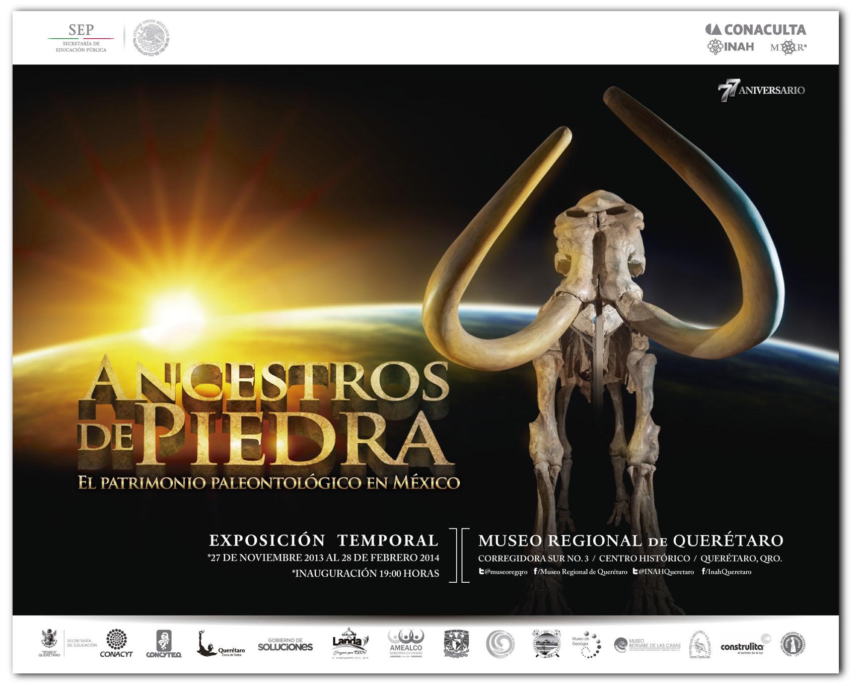 """Exposición """"Ancestros de Piedra"""" en el Museo Regional de Querétaro"""