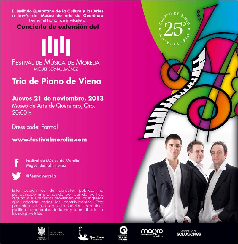 Concierto: Trío de Piano de Viena en el Museo de Arte de Querétaro
