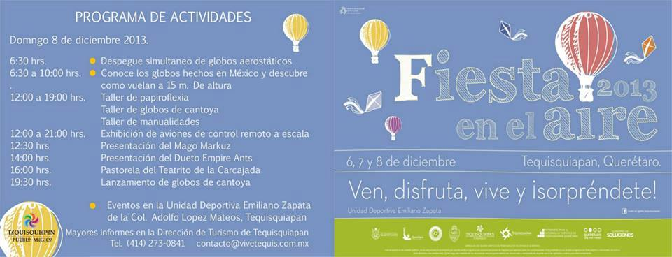 Fiesta en el Aire 2013 – 6 al 8 de Diciembre en Tequisquiapan