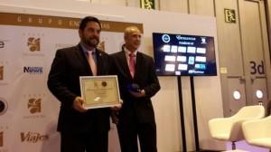 Mauricio Salmón premio Excelencias Turísticas 2013 por Rutas de Querétaro