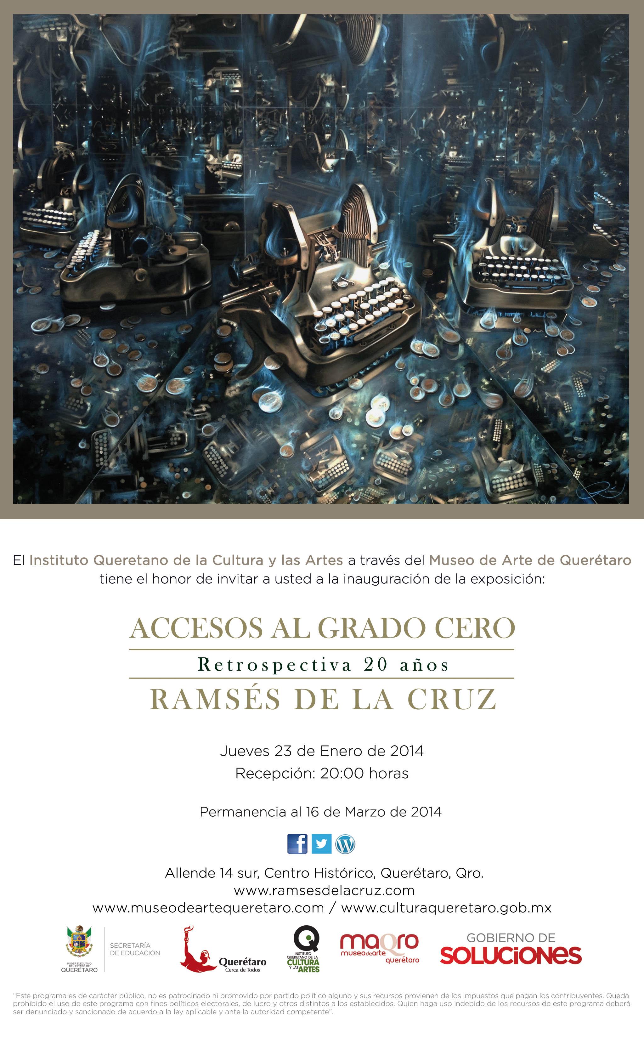 """Exposición en MAQRO: """"Accesos al Grado Cero"""" de Ramsés de la Cruz"""
