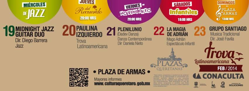 Programa Plazas Queretanas del 19 al 23 de Febrero