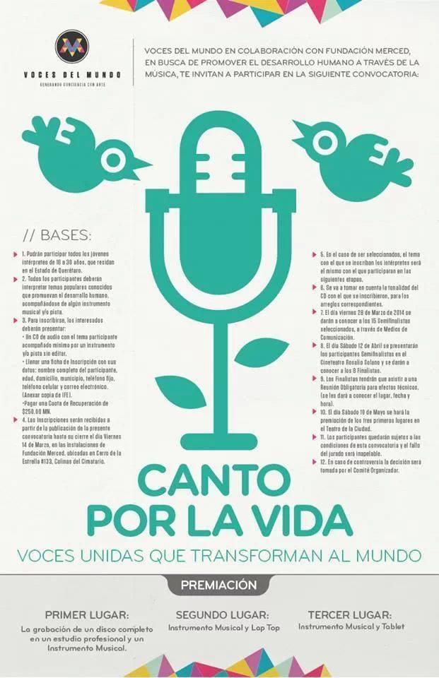 """Canto por la Vida """"Voces unidas que transforman al Mundo"""""""