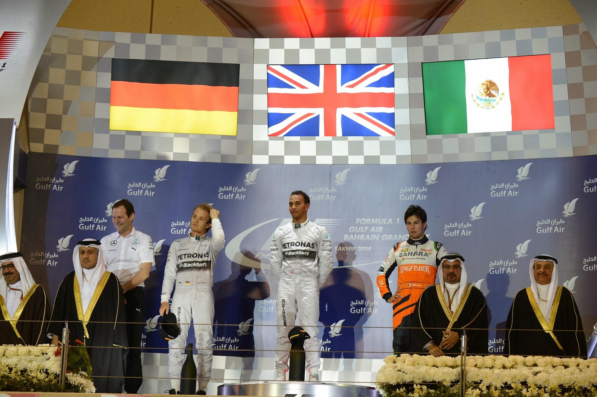 Gran podio en Bahréin para Checo Pérez