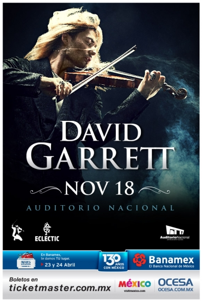 ¡David Garrett regresa a México!