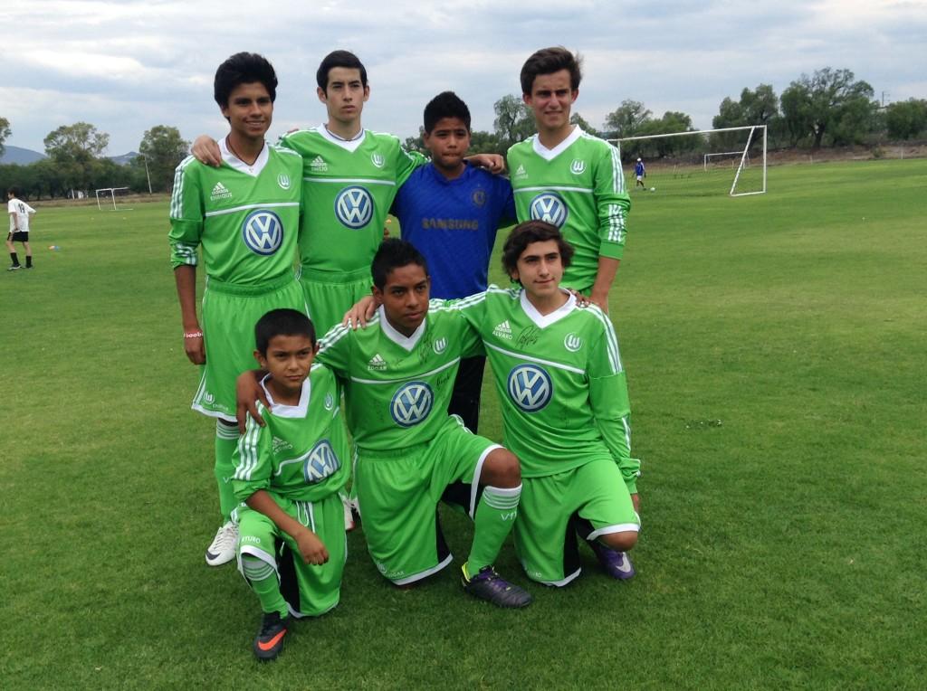 Jugadores Queretanos a Wolfsburg 2014