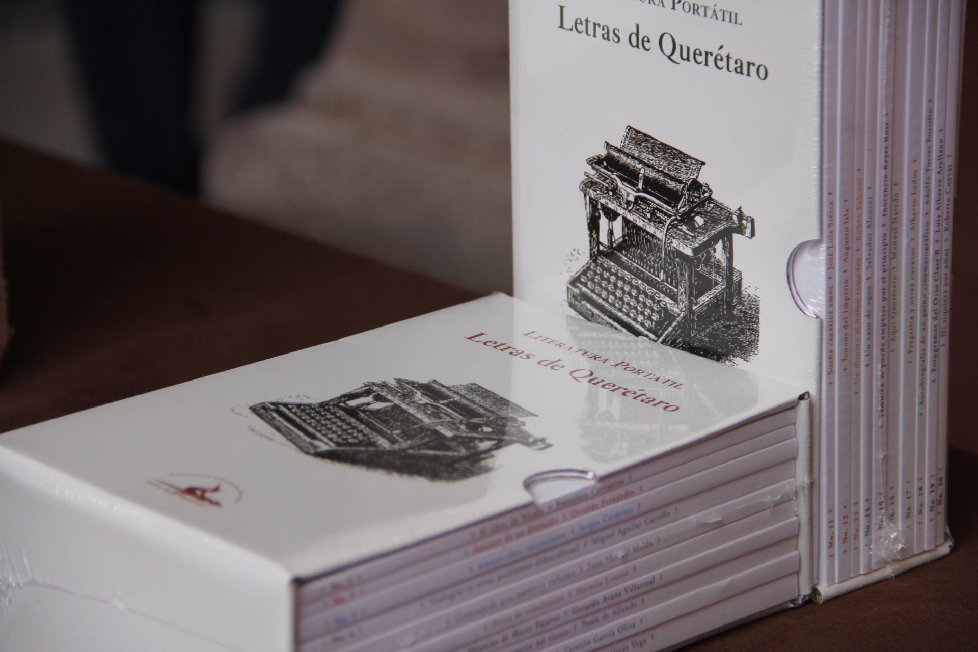 Presenta Fondo Editorial de Querétaro la colección Literatura Portátil. Letras de Querétaro