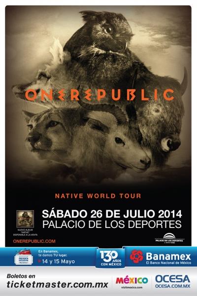 American Authors abrirán el concierto de OneRepublic en México