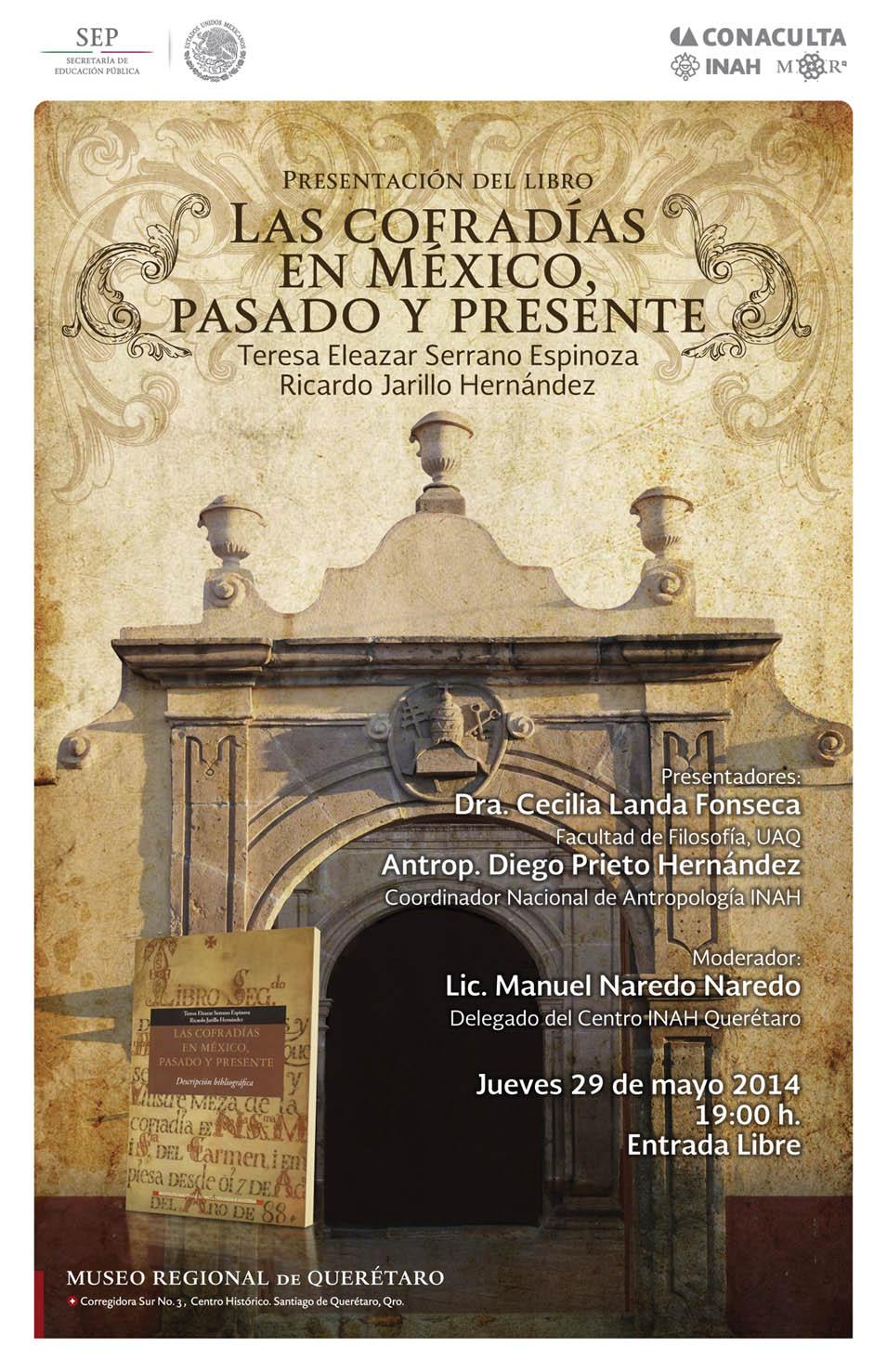 Presentación del Libro: Las Cofradías en México, Pasado y Presente