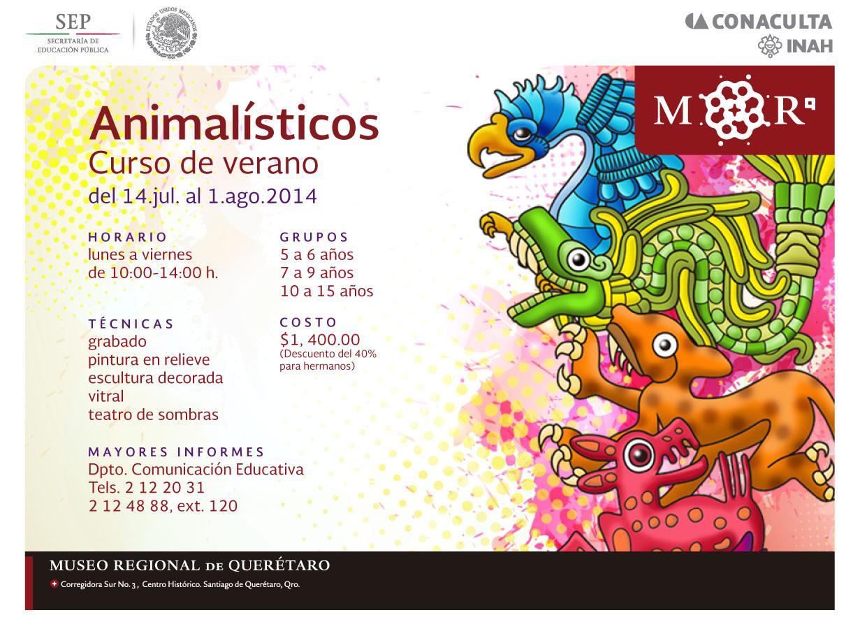 Animalísticos – Curso de Verano en el Museo Regional de Querétaro