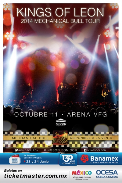 Kings of Leon en Guadalajara – 11 de Octubre