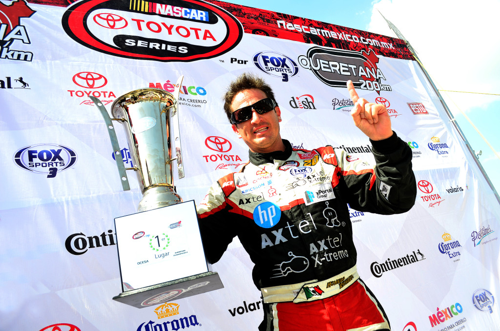 HOMERO RICHARDS ganador Nascar Mexico Queretana 200 Agosto 2014