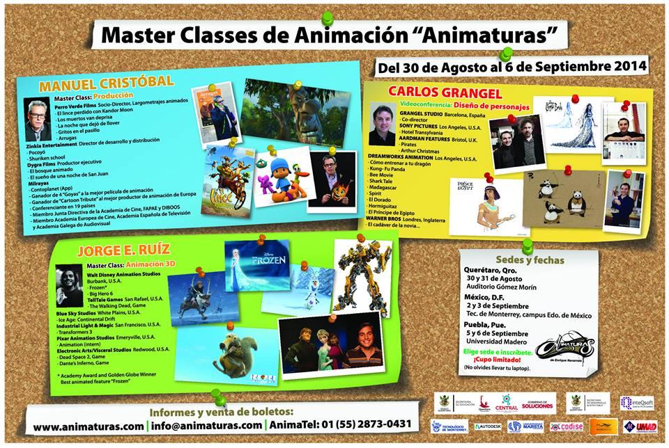 """Master Classes de Animación """"Animaturas"""" en Querétaro"""