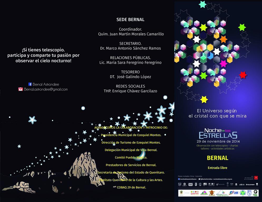 Noche de las Estrellas en Bernal – 29 de Noviembre