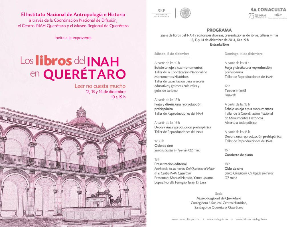 Libros del INAH en Queretaro - Programa Completo
