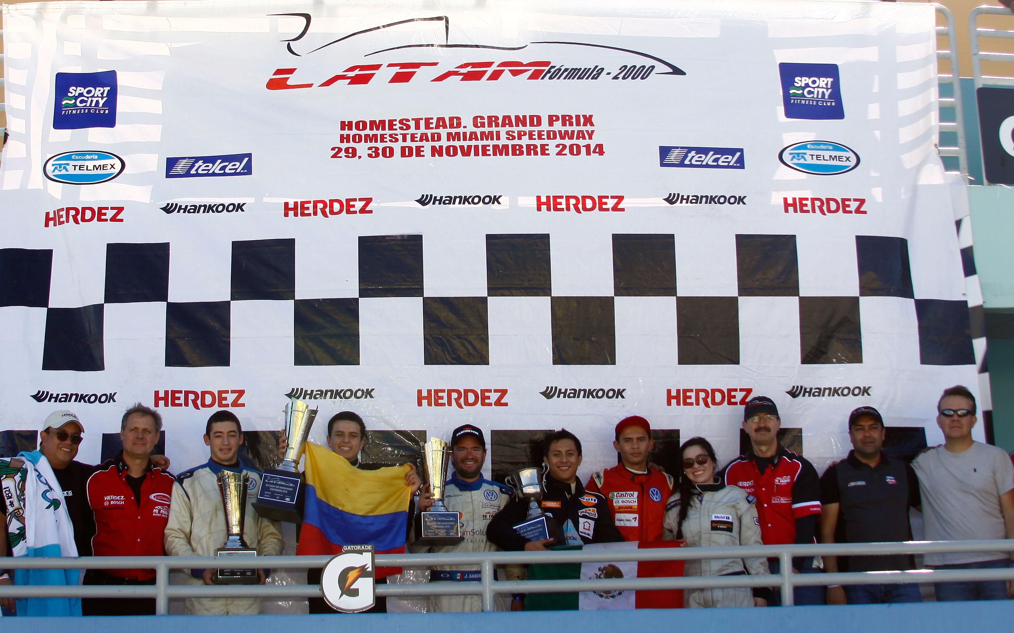 """José Carlos Sandoval gana la 2ª. del """"Homestead Grand Prix"""" y Santiago Lozano es el Campeón 2014"""