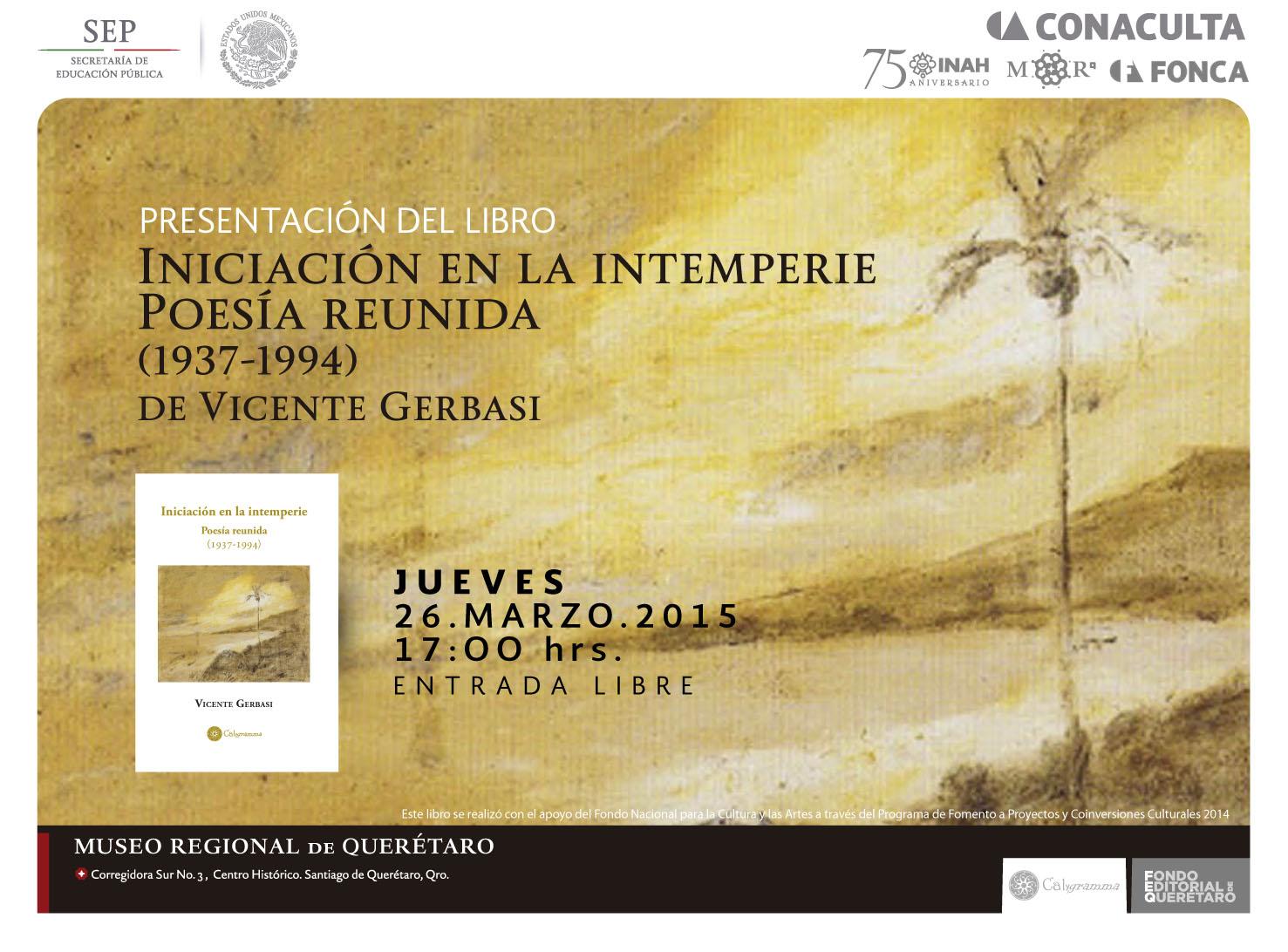 Iniciación en la intemperie – de Vicente Gerbasi