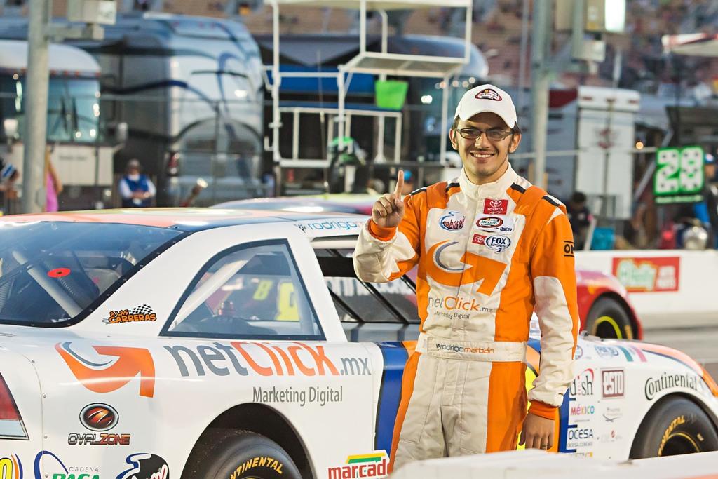 Rodrigo Marbán preparado para 2da fecha de NASCAR en San Luis Potosí