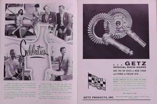 1965 Indy 500 race programme 10