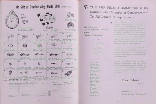 1965 Indy 500 race programme 13
