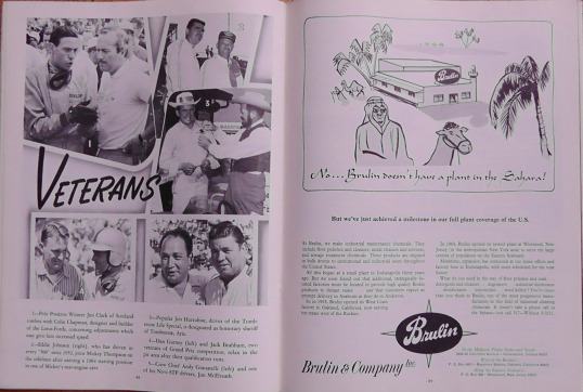 1965 Indy 500 race programme 14