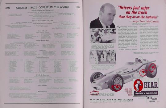 1965 Indy 500 race programme 4
