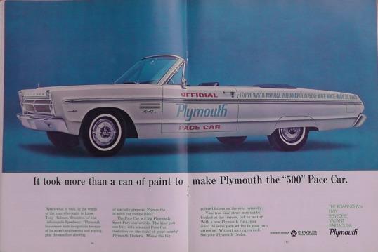 1965 Indy 500 race programme 9