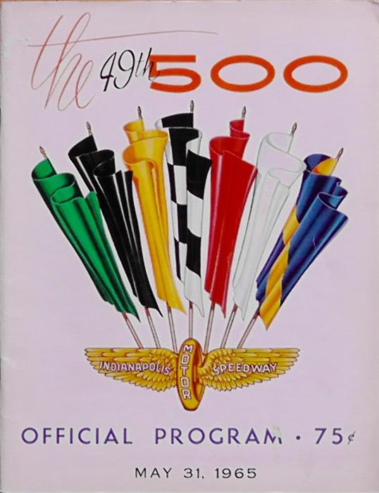 1965 Indy 500 race programme