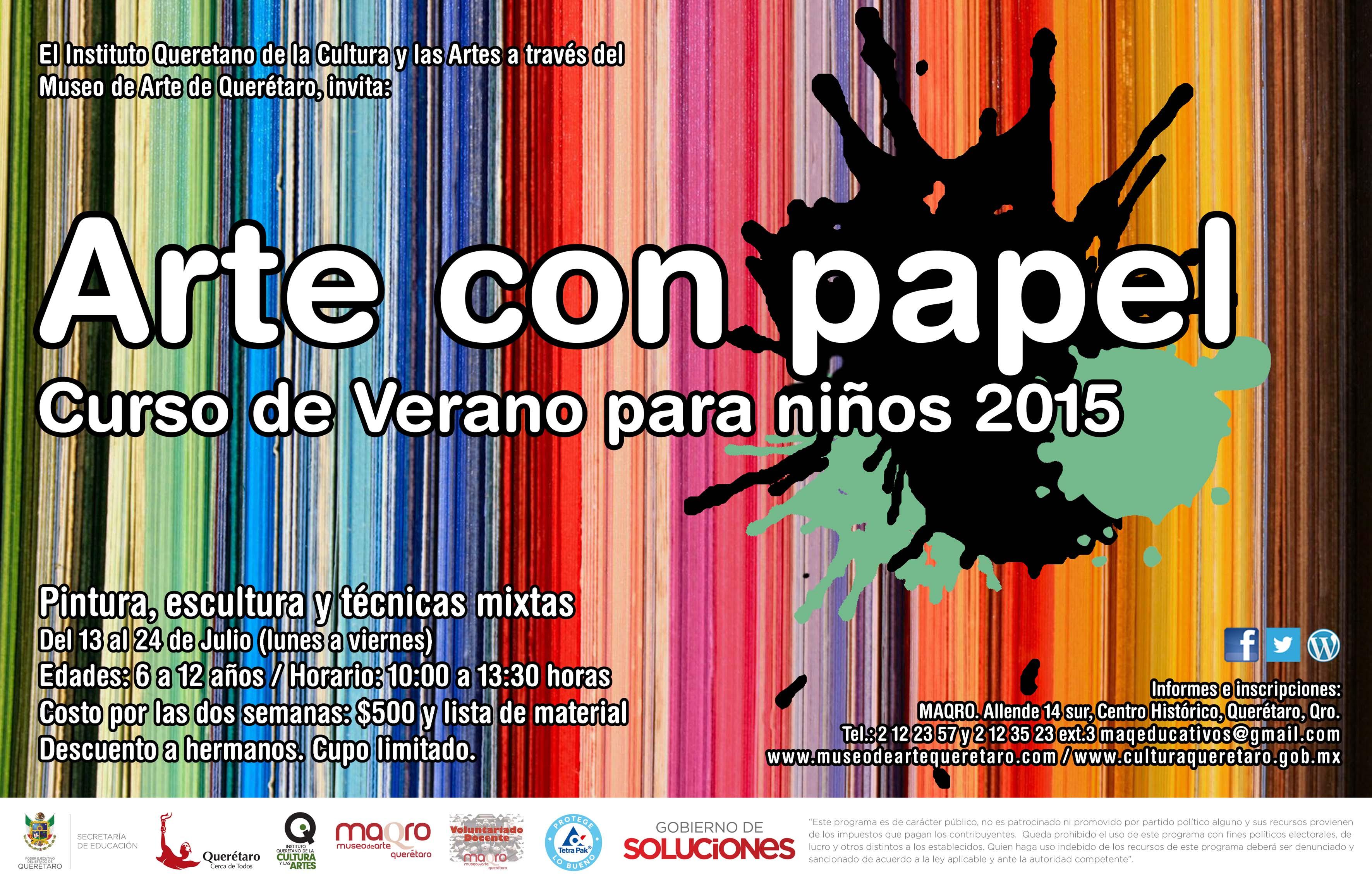 Curso de Verano para niños – Arte con papel