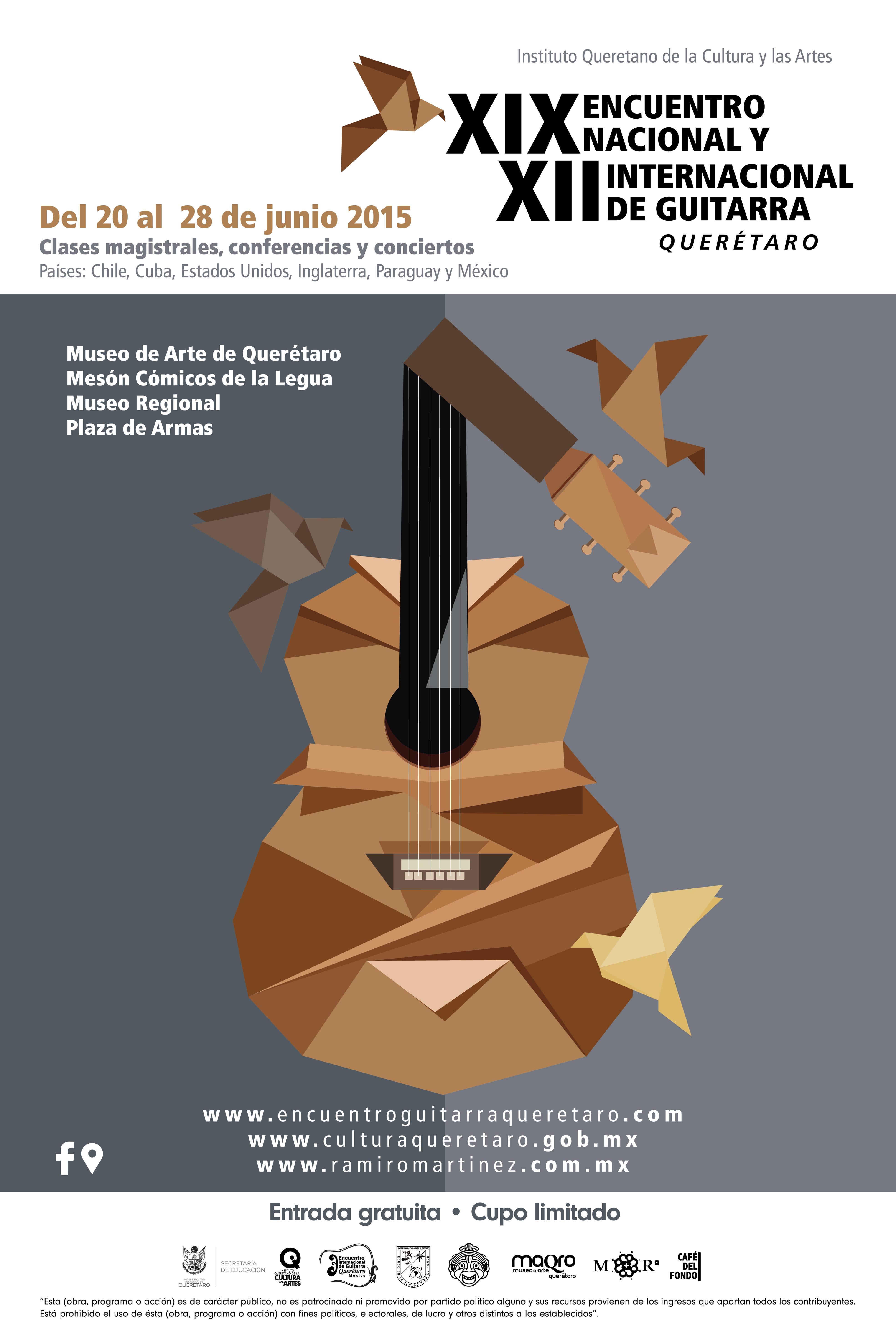 XIX Encuentro Nacional y XII Internacional de Guitarra Querétaro