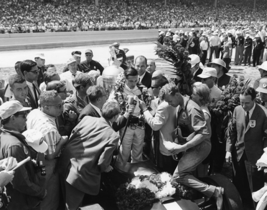 Jim Clark wins the Indy 500