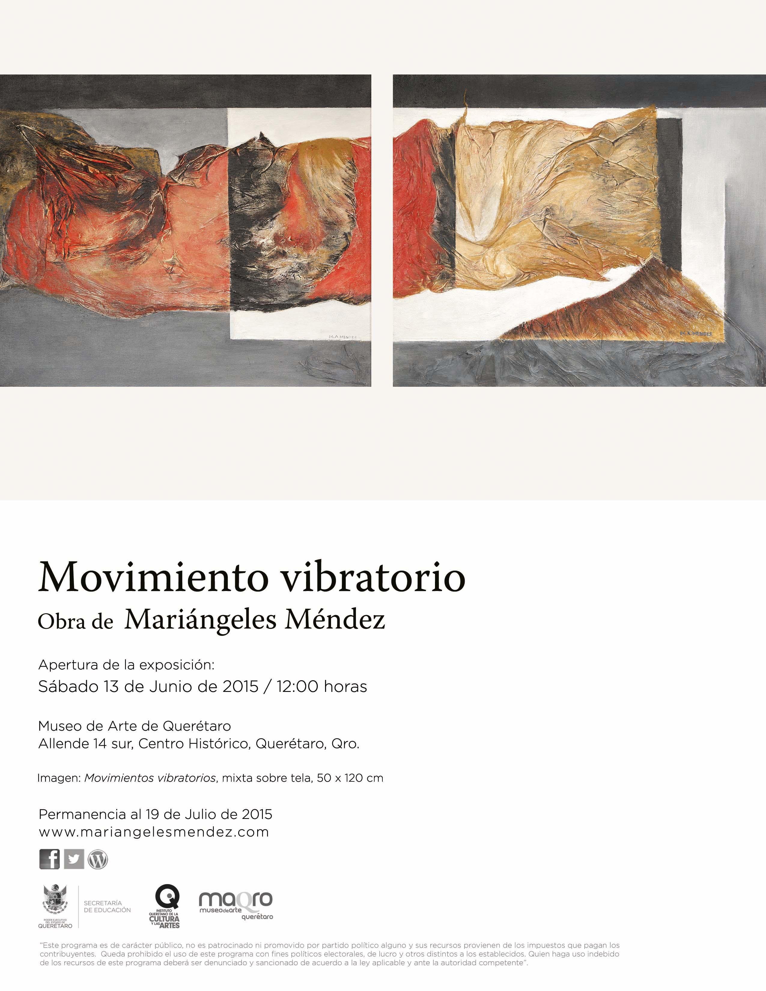 Movimiento vibratorio – Obra de Mariángeles Méndez