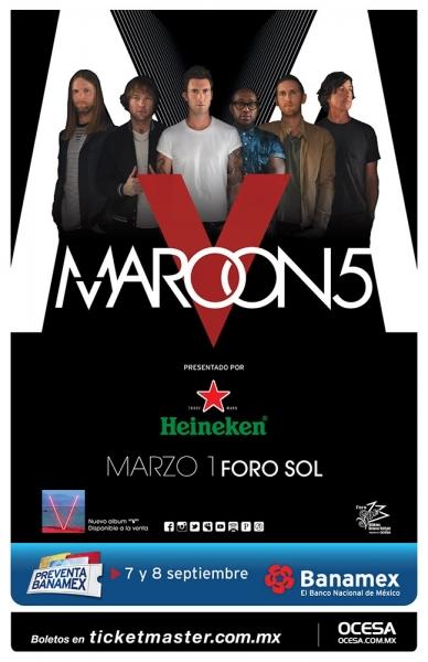 Maroon 5 anuncia conciertos en México