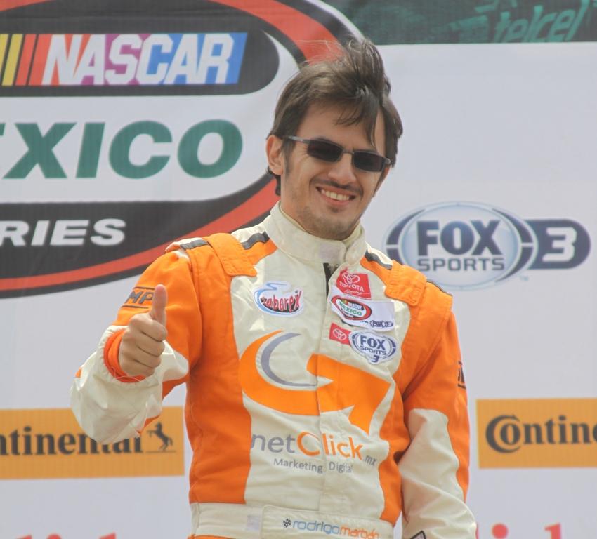 Rodrigo Marbán, motivado para la fecha de NASCAR en San Luis Potosí