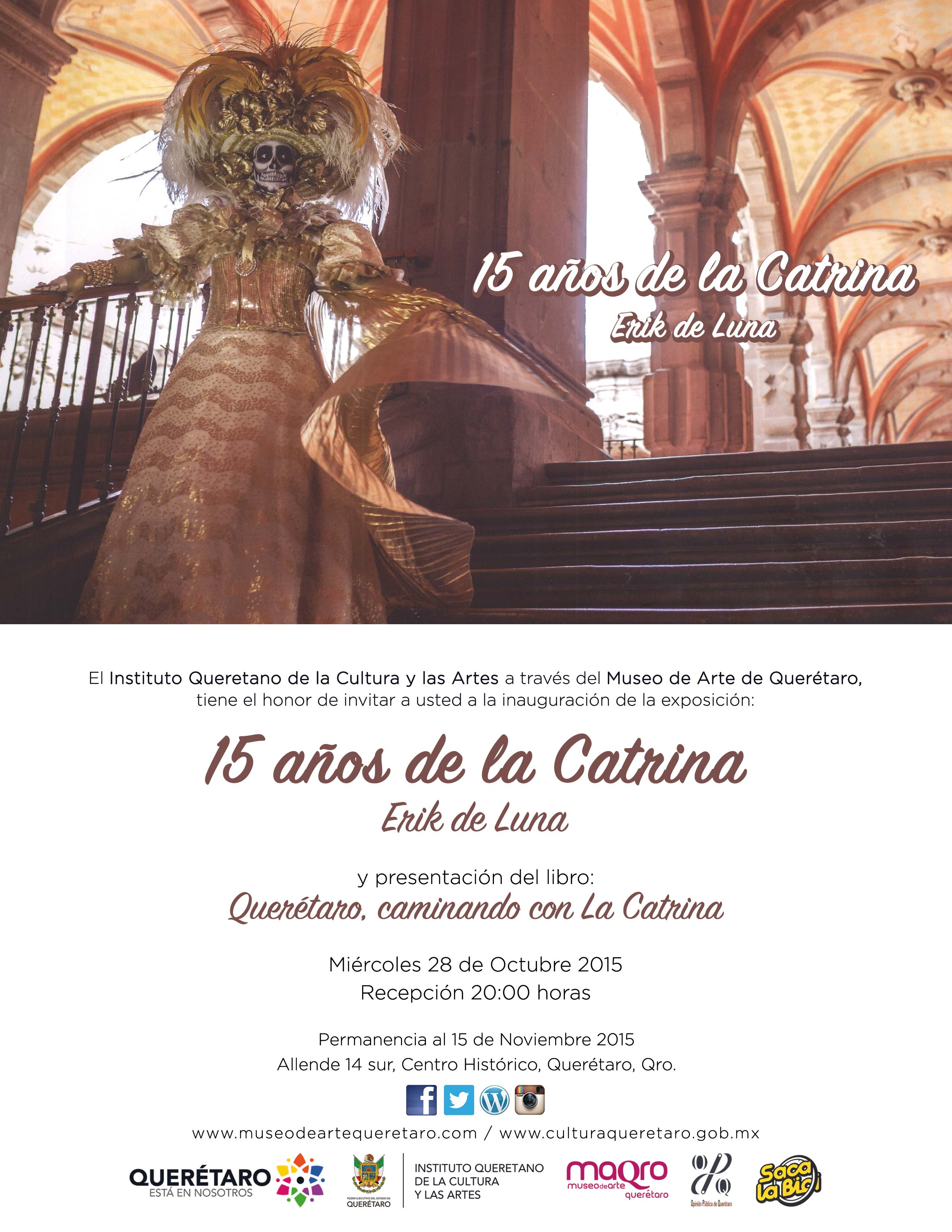 15 años de La Catrina – Erik de Luna – Miércoles 28 de Octubre